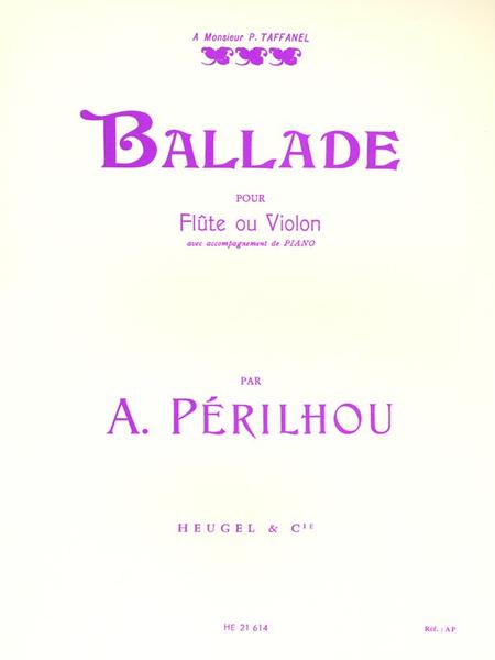 Ballade - Flute (Ou Violon) et Piano