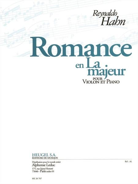 Romance en La Majeur - Violon et Piano