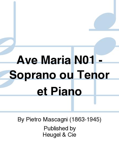 Ave Maria N01 - Soprano ou Tenor et Piano