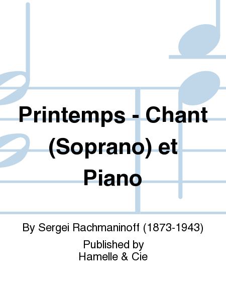Printemps - Chant (Soprano) et Piano