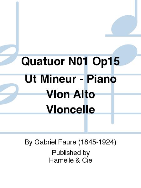 Quatuor No.1 Op15 Ut Mineur - Piano Vlon Alto Vloncelle