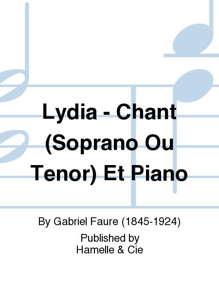 Lydia - Chant (Soprano Ou Tenor) Et Piano