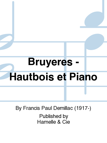 Bruyeres - Hautbois et Piano