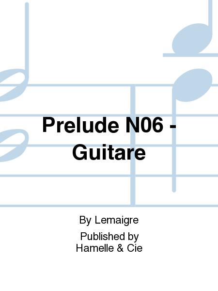 Prelude No.6 - Guitare