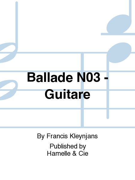 Ballade No.3 - Guitare