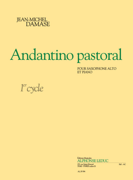 Andantino Pastoral - Saxophone Alto et Piano