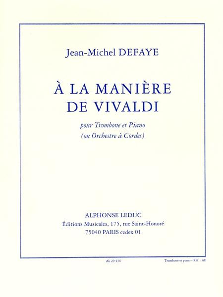 A La Maniere de Vivaldi - Trombone et Piano
