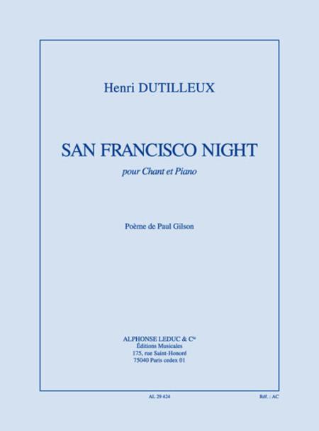San Francisco Night - Chant Et Piano