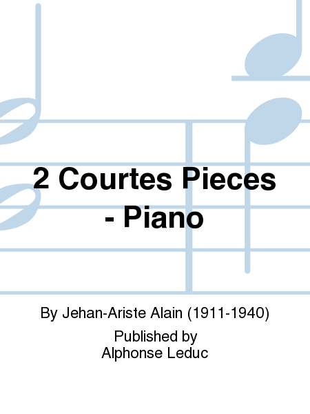 2 Courtes Pieces - Piano