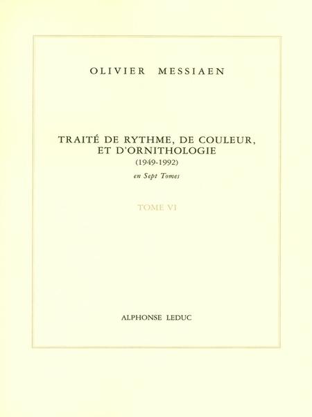 Traite de Rythme, de Couleur, D'Ornithologie/Tome 6