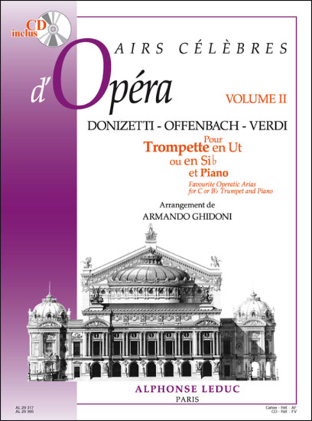 Airs Celebres D'Opera (Vol2) - Trompette Ut ou Sib et Piano (Avec CD)