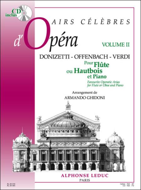 Airs Celebres D'Opera (Vol2) - Flute ou Hautbois et Piano (Avec CD)