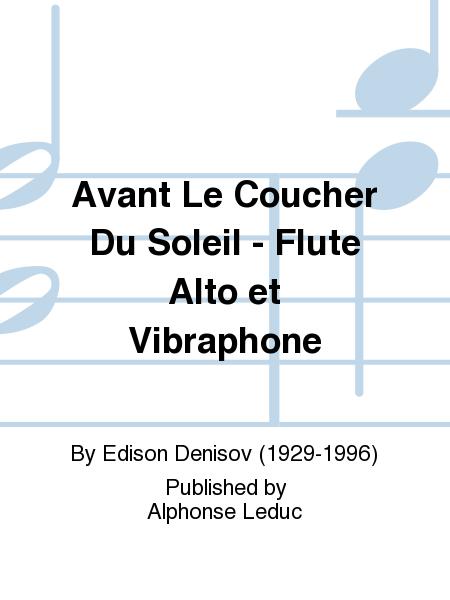 Avant Le Coucher Du Soleil - Flute Alto et Vibraphone