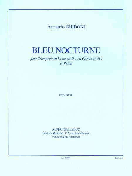 Bleu Nocturne - Trompette en Ut ou Sib ou Cornet Sib et Piano