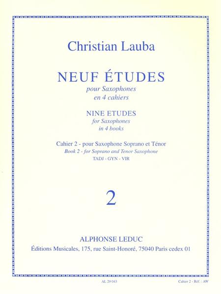 9 Etudes Volume 2 - Saxophone