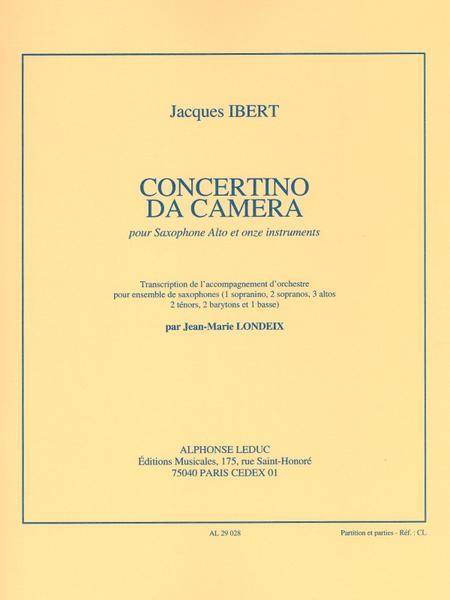 Concertino Da Camera - Saxophone Mib Et Ensble De Saxophones