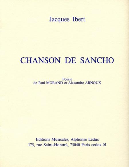 Chanson de Sancho - Chant et Piano