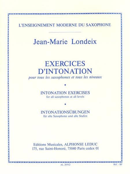 Exercices D'Intonation Pour Tous Saxophones et Tous Niveaux