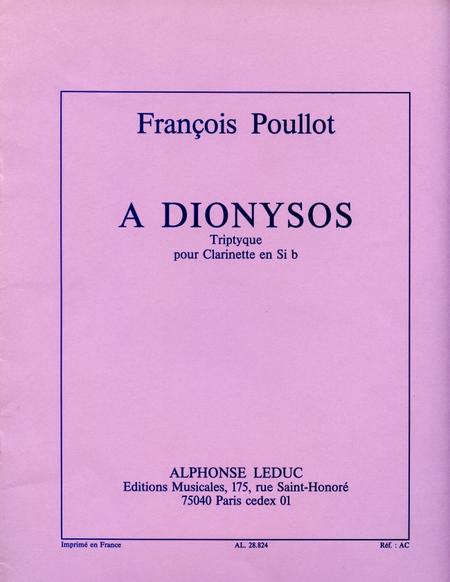 A Dionysos Triptyque - Clarinette Sib