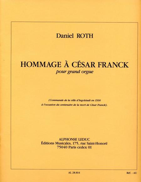 Hommage a Cesar Franck - Grand Orgue