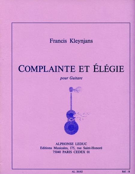 Complainte et Elegie - Guitare