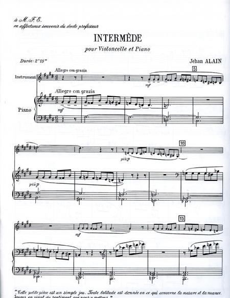 Intermede - Violoncelle et Piano