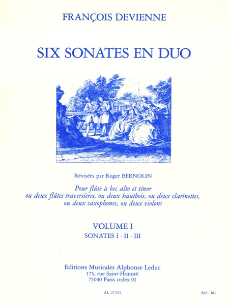 6 Sonates en Duo Volume 1/Sonates 1-2-3 - Flutes a Bec Alto et Tenor