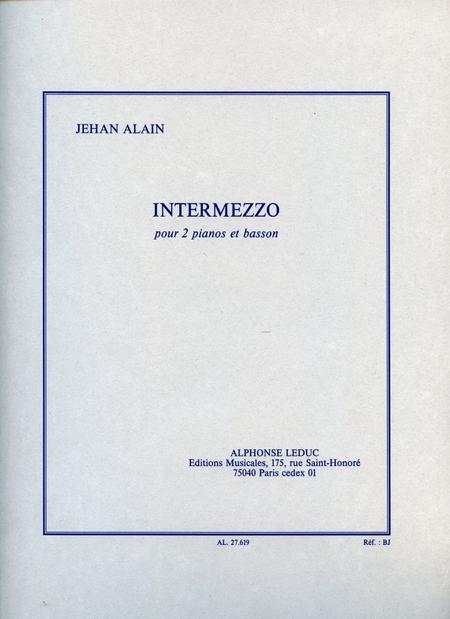 Intermezzo - 2 Pianos et Basson (Ou Violoncelle)