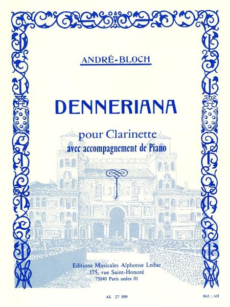 Denneriana - Clarinette et Piano