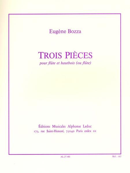 3 Pieces - Flute et Hautbois (Ou 2eme Flute)