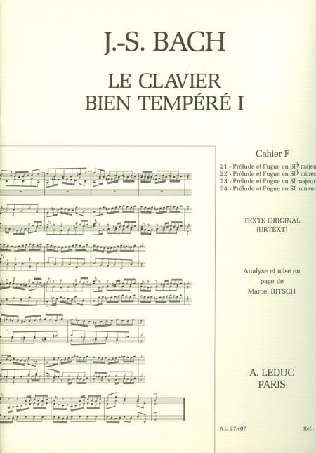 Clavier Bien Tempere/Livre1 - Volume F/Piano-Presentation Strophique