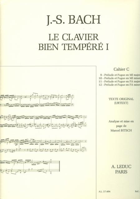 Clavier Bien Tempere/Livre1 - Volume C/Piano-Presentation Strophique