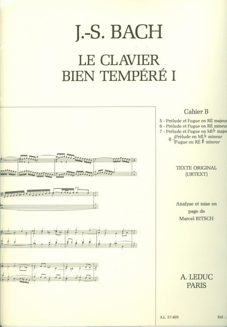 Clavier Bien Tempere/Livre1 - Volume B/Piano-Presentation Strophique