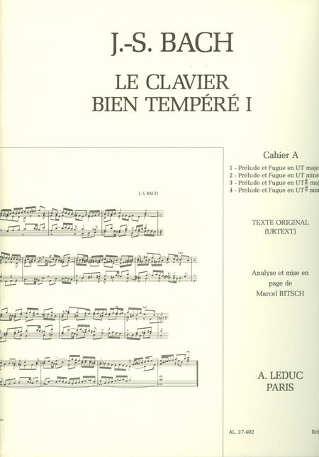 Clavier Bien Tempere/Livre1 - Volume A/Piano-Presentation Strophique