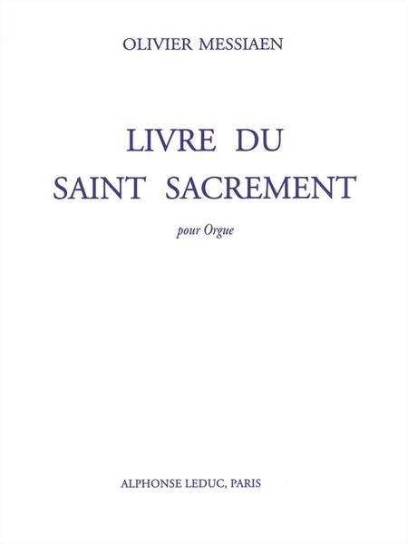 Livre Du Saint Sacrement - Orgue