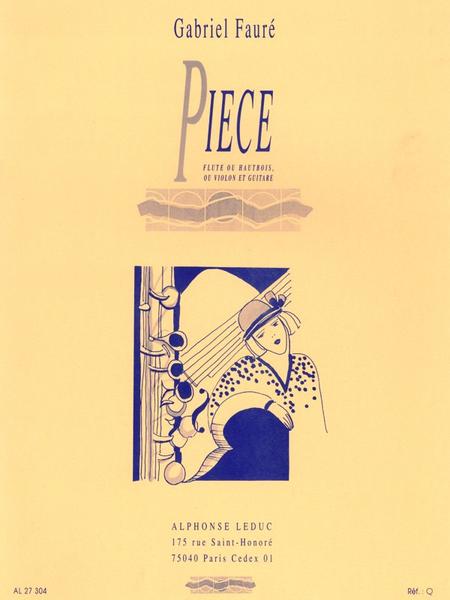 Piece - Flute Ou Hautbois Ou Violon Et Guitare