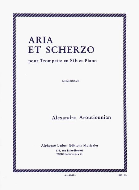 Aria et Scherzo - Trompette Sib et Piano