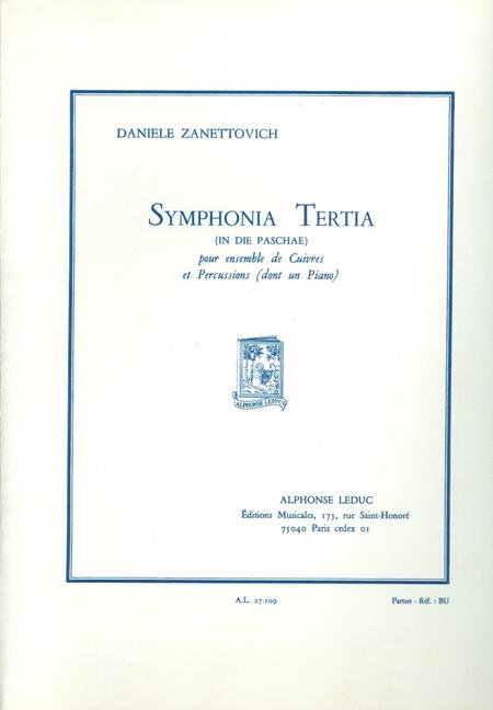 Symphonia Tertia - Ensemble Cuivres/Piano/Percussions