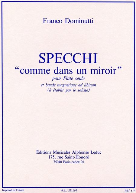 Specchi comme dans un miroir flute seule bde magnet a for Comme dans un miroir