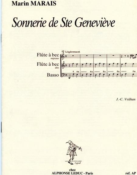 Sonnerie de Sainte Genevieve - 2 Flutes a Bec (Sopr/Alto) et Basse Continue