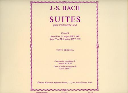 Suites Pour Violoncelle Seul - Vol.2/Suite No.3/Suite No.4-Presentation Strophique