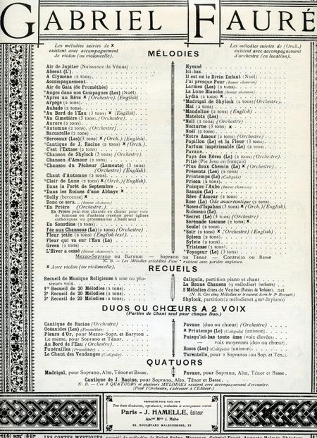 Fee Aux Chansons - Chant (Mezzo-Soprano ou Baryton) et Piano