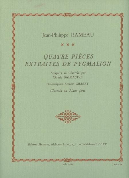 4 Pieces Extraites De Pygmalion Clavecin Ou Piano-Forte