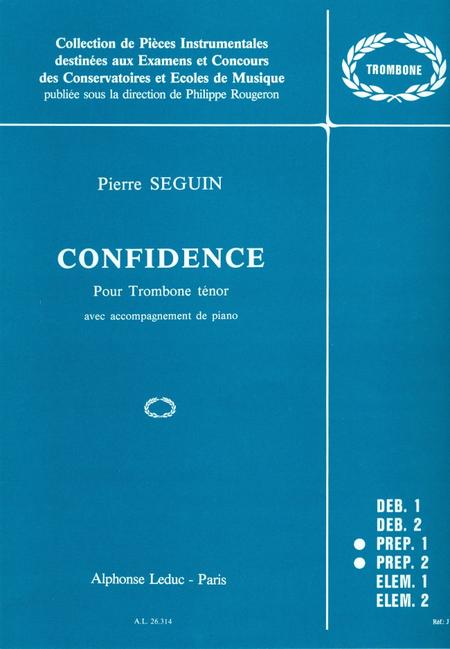 Confidence - Trombone Tenor Et Piano