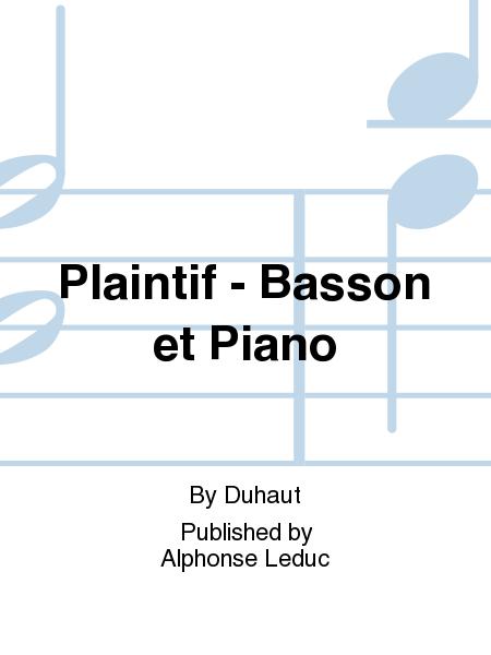 Plaintif - Basson et Piano