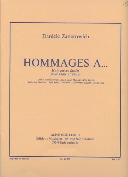 Hommages A..(8 Pieces Faciles) - Flute et Piano