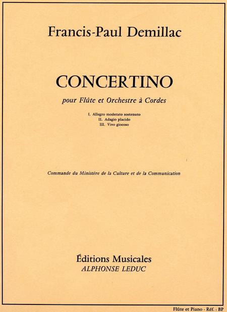 Concertino (Fl.Et Orch.Cordes) - Flute et Piano