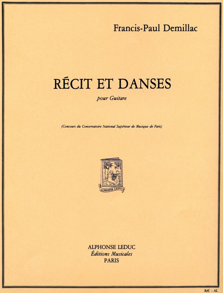 Recit et Danses - Guitare