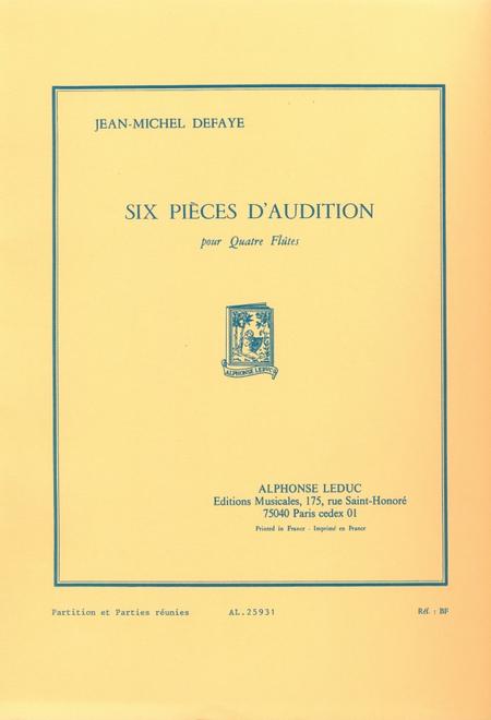 6 Pieces D'Audition - 4 Flutes