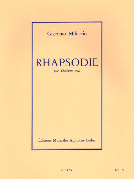 Rhapsodie - Clarinette Seule